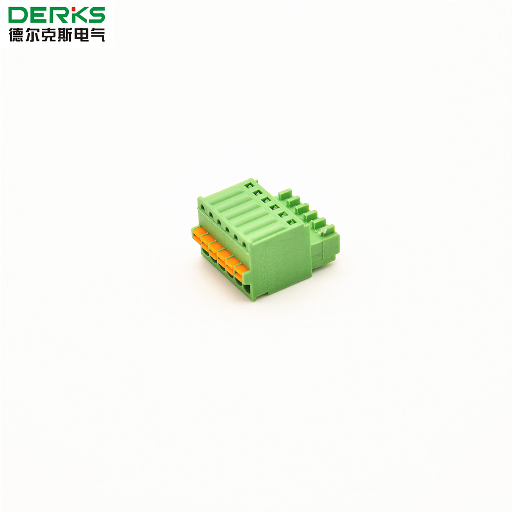 Pluggable Spring Screwless Terminal Block 2.50